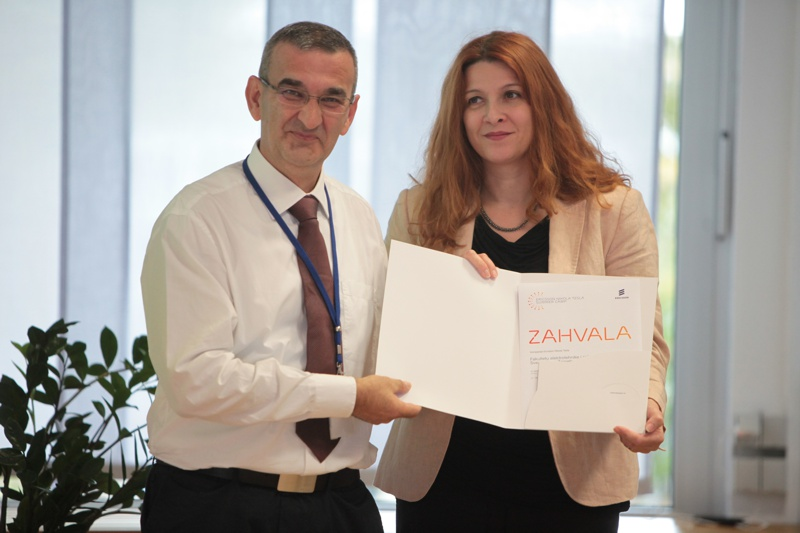 Zahvala FER / Award for successful collaboration to FER